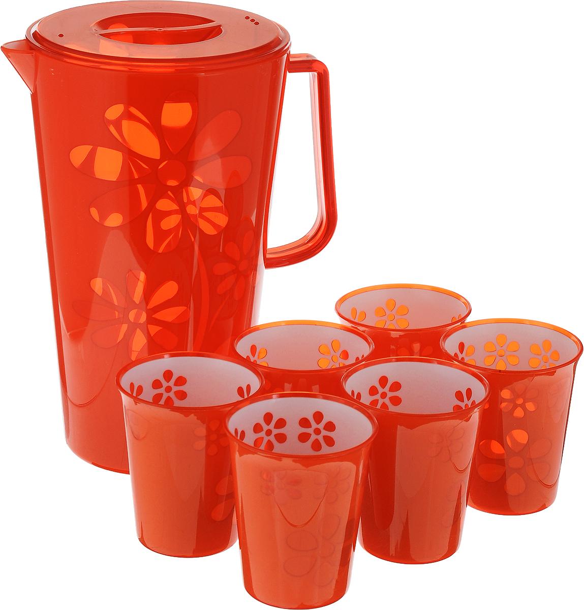 Набор питьевой Альтернатива Соблазн, 7 предметовVT-1520(SR)Набор питьевой Альтернатива Соблазн, выполненный из первоклассного нетоксичногопластика, состоит из кувшина с крышкой и 6 стаканов. Яркие изделия декорированы изображением цветов.Набор питьевой Альтернатива Соблазн - великолепное решение для летних прохладительных напитков! Диаметр кувшина (по верхнему краю): 14,5 см.Высота кувшина (с учетом крышки): 24,5 см.Объем кувшина: 2,5 л.Диаметр стакана (по верхнему краю): 7,5 см.Высота стакана: 9 см.Объем стакана: 200 мл.