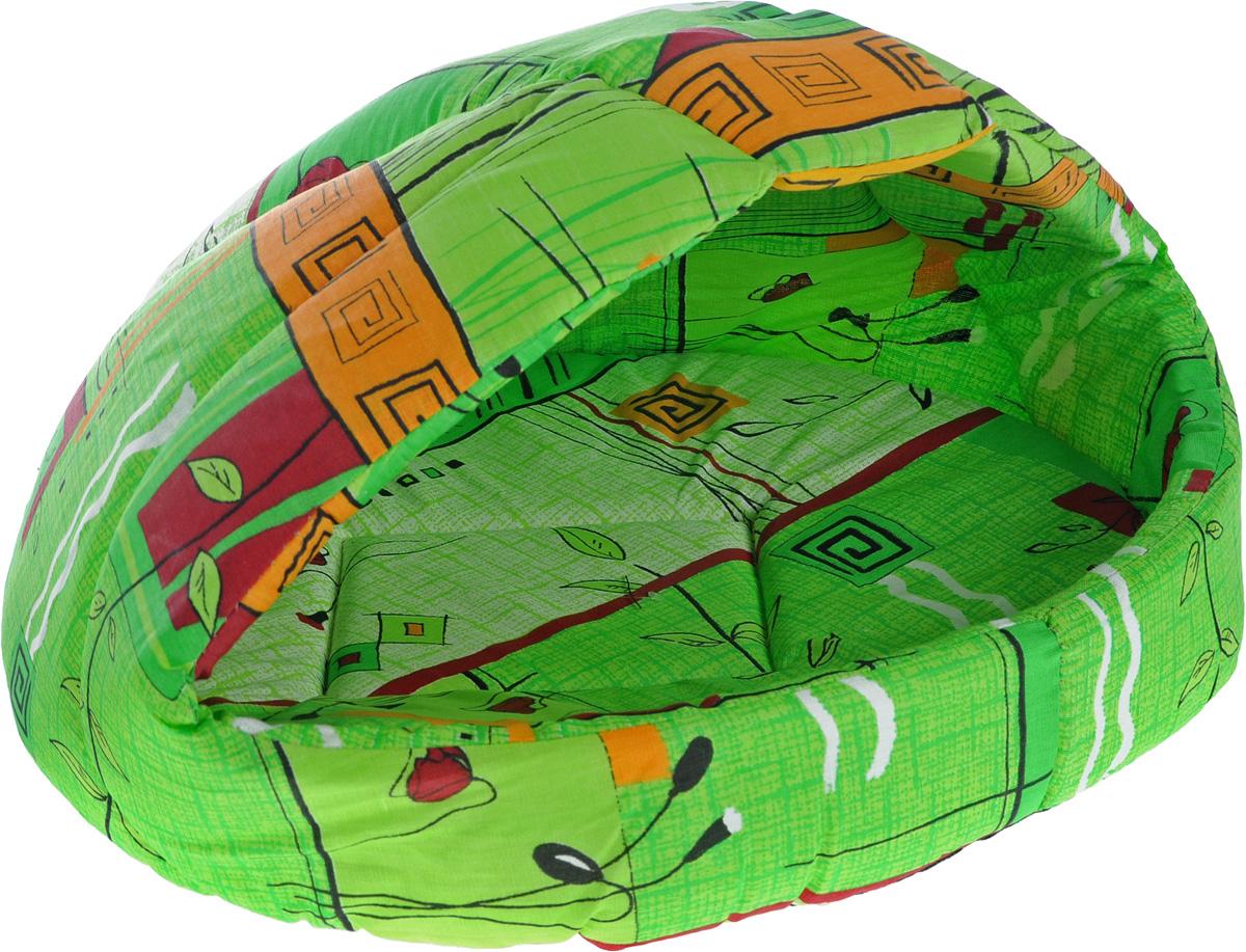 Лежак для животных Elite Valley Лукошко, цвет: салатовый, оранжевый, 55 х 47 х 45 см. Л-13/4Л-13/4_салатовый, оранжевыйЛежак Elite Valley Лукошко непременно станет любимым местом отдыха вашего домашнего животного. Изделие выполнено из бязи и нетканого материала, а наполнитель - из поролона. Такой материал не теряет своей формы долгое время. Внутри имеется мягкая съемная подстилка.На таком лежаке вашему любимцу будет мягко и тепло. Он подарит вашему питомцу ощущение уюта и уединенности, а также возможность спрятаться.