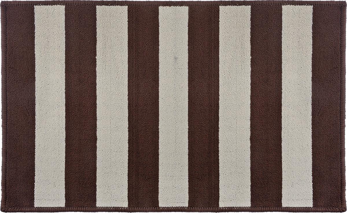 Коврик Vortex Dublin, цвет: коричневый, бежевый, 50 х 80 смFS-91909Ворс коврика Vortex изготовлен из 100% полипропилена. Коврик оснащен выполненной из латекса подложкой, которая препятствует скольжению. Коврик Vortex гармонично впишется в интерьер вашего дома и создаст атмосферу уюта и комфорта. Изделие отлично подойдет как для использования в доме, так и снаружи.