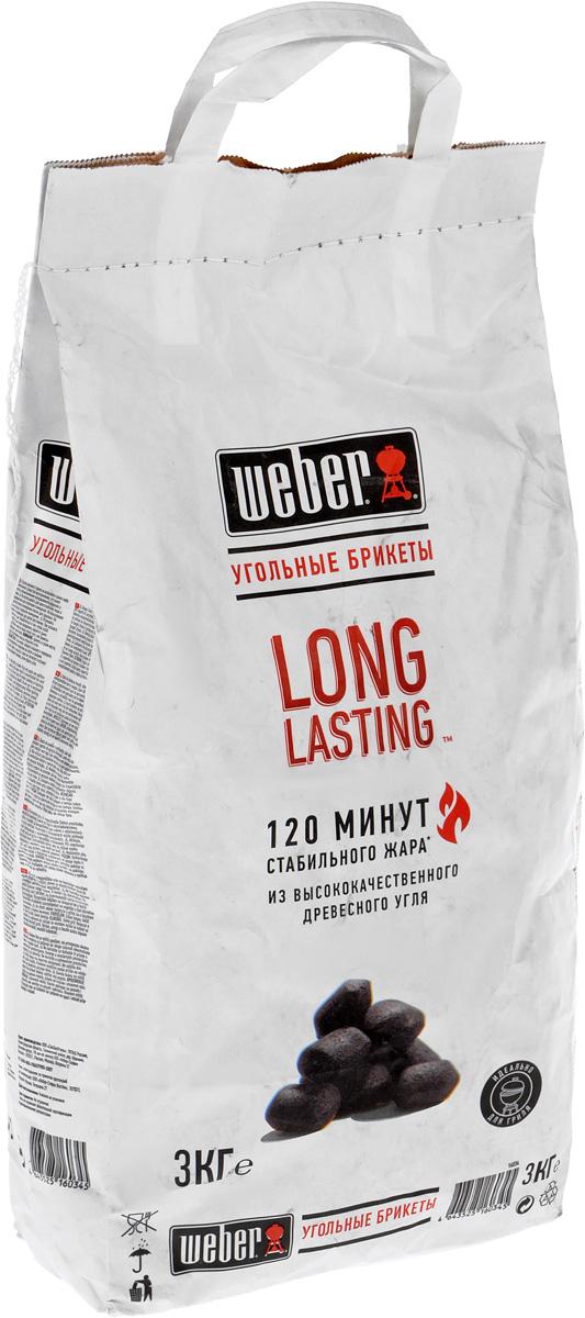 Брикеты угольные Weber Long Lasting, 3 кг527Уголь Weber Long Lasting предназначен для быстрого и качественного приготовления разнообразных блюд в мангалах и грилях. Брикеты изготовлены из высококачественного древесного угля. Изделия обладают высокой теплоотдачей и не выделяют канцерогенных веществ. Уголь пылает ровно и значительное время сохраняет жар, что гарантирует хорошую прожарку продуктов и исключает их подгорание. Время горения: 120 минут. Вес упаковки: 3 кг.