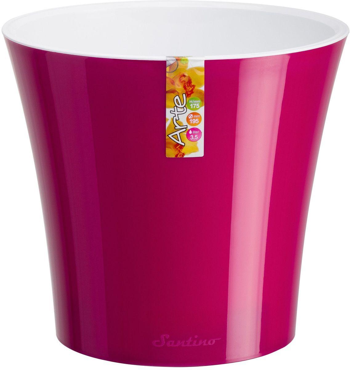 Горшок цветочный Santino Арте, двойной, с системой автополива, цвет: лиловый, белый, 1,2 л531-402Горшок цветочный Santino Арте снабжен дренажной системой и состоит из кашпо и вазона-вкладыша. Изготовлен из пластика. Особенность: тарелочка или блюдце не нужны. Горшок предназначен для любых растений или цветов. Цветочный дренаж – это система, которая позволяет выводить лишнюю влагу через корневую систему цветка и слой почвы. Растение – это живой организм, следовательно, ему необходимо дышать. В доступе к кислороду нуждаются все части растения: -листья; -корневая система. Если цветовод по какой-либо причине зальет цветок водой, то она буквально вытеснит из почвенного слоя все пузырьки кислорода. Анаэробная среда способствует развитию различного рода бактерий. Безвоздушная среда приводит к загниванию корневой системы, цветок в результате увядает. Суть работы дренажной системы заключается в том, чтобы осуществлять отвод лишней влаги от растения и давать возможность корневой системе дышать без проблем. Следовательно, каждому цветку необходимо: -иметь в основании цветочного горшочка хотя бы одно небольшое дренажное отверстие. Оно необходимо для того, чтобы через него выходила лишняя вода, плюс ко всему это отверстие дает возможность циркулировать воздух. -на самом дне горшка необходимо выложить слоем в 2-5 см (зависит от вида растения) дренаж.УВАЖАЕМЫЕ КЛИЕНТЫ!Обращаем ваше внимание на тот факт, что фото изделия служит для визуального восприятия товара. Литраж и размеры, представленные на этикетке товара, могут по факту отличаться от реальных. Корректные данные в поле Размеры.