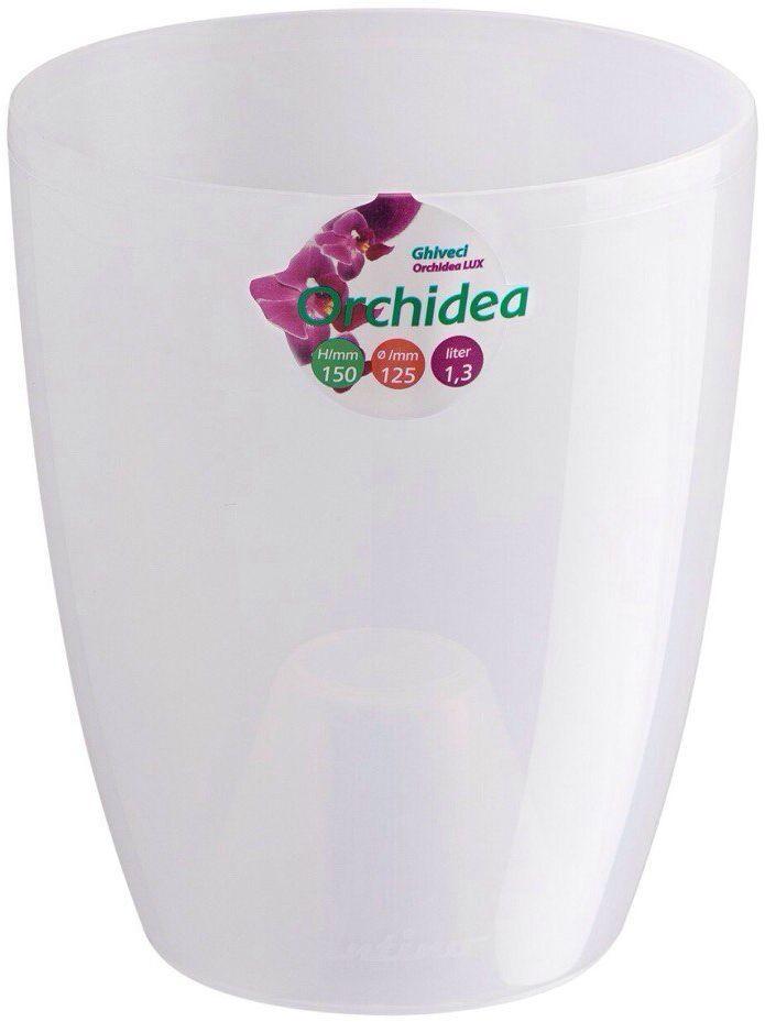Горшок цветочный Santino Орхидея, цвет: прозрачный, 1,3 л531-402Горшок цветочный Santino Орхидея представляет из себя кашпо для выращивания различных видов орхидей (фаленопсисов). Благодаря выпуклости на дне корни не загнивают, возможна пересадка и выращивание орхидеи в горшке-вкладыше. Горшок изготовлен из пластика.Особенность: тарелочка или блюдце не нужны. УВАЖАЕМЫЕ КЛИЕНТЫ!Обращаем ваше внимание на тот факт, что фото изделия служит для визуального восприятия товара. Литраж и размеры, представленные на этикетке товара, могут по факту отличаться от реальных. Корректные данные в поле Размеры.