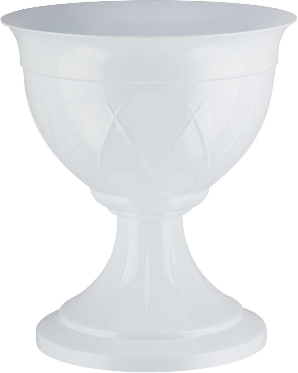 Горшок цветочный Santino Лилия, на ножке, цвет: белый, 14 л6.295-875.0Горшок на ножке Santino Лилия изготовлен из прочного пластика. Изделие предназначено для выращивания цветов и других растений, как в домашних условиях, так и на улице.
