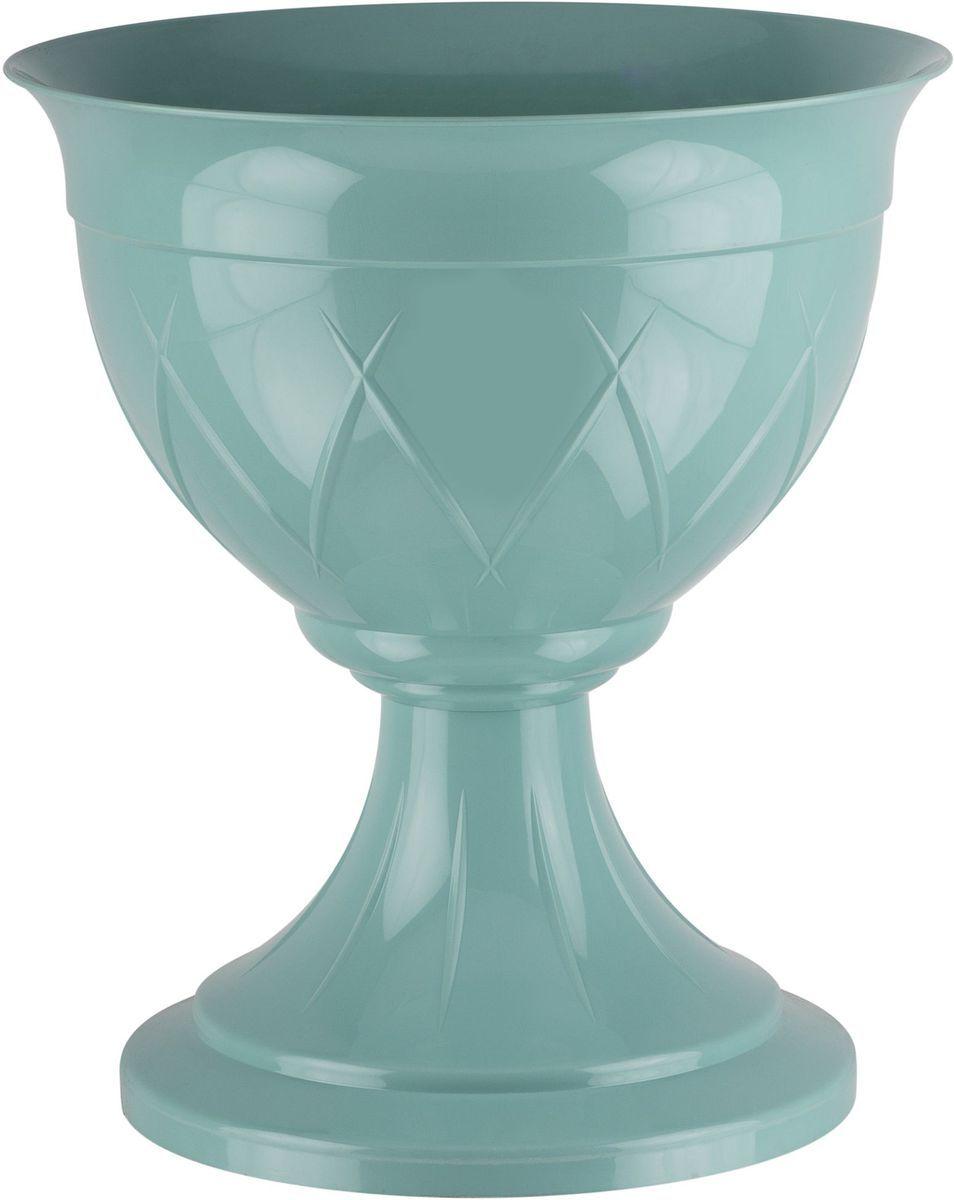 Горшок цветочный Santino Лилия, на ножке, цвет: нефрит, 14 лZ-0307Горшок на ножке Santino Лилия изготовлен из прочного пластика. Изделие предназначено для выращивания цветов и других растений, как в домашних условиях, так и на улице.