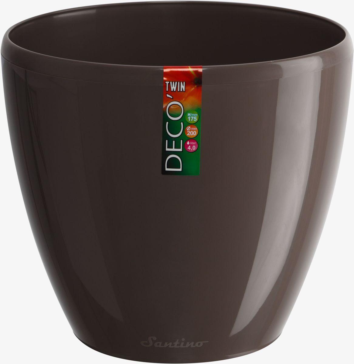 Горшок цветочный Santino Deco Twin, двойной, с системой автополива, цвет: шаде, 1,5 л531-401Горшок цветочный Santino Deco Twin снабжен дренажной системой и состоит из кашпо и вазона-вкладыша. Изготовлен из пластика. Особенность: тарелочка или блюдце не нужны. Горшок предназначен для любых растений или цветов. Цветочный дренаж – это система, которая позволяет выводить лишнюю влагу через корневую систему цветка и слой почвы. Растение – это живой организм, следовательно, ему необходимо дышать. В доступе к кислороду нуждаются все части растения: -листья; -корневая система. Если цветовод по какой-либо причине зальет цветок водой, то она буквально вытеснит из почвенного слоя все пузырьки кислорода. Анаэробная среда способствует развитию различного рода бактерий. Безвоздушная среда приводит к загниванию корневой системы, цветок в результате увядает. Суть работы дренажной системы заключается в том, чтобы осуществлять отвод лишней влаги от растения и давать возможность корневой системе дышать без проблем. Следовательно, каждому цветку необходимо: -иметь в основании цветочного горшочка хотя бы одно небольшое дренажное отверстие. Оно необходимо для того, чтобы через него выходила лишняя вода, плюс ко всему это отверстие дает возможность циркулировать воздух. -на самом дне горшка необходимо выложить слоем в 2-5 см (зависит от вида растения) дренаж.УВАЖАЕМЫЕ КЛИЕНТЫ!Обращаем ваше внимание на тот факт, что фото изделия служит для визуального восприятия товара. Литраж и размеры, представленные на этикетке товара, могут по факту отличаться от реальных. Корректные данные в поле Размеры.