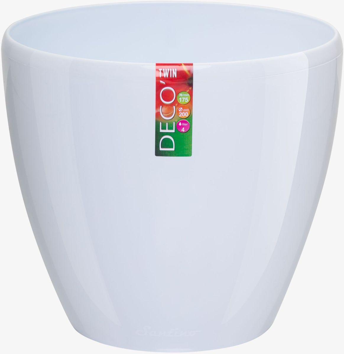 Горшок цветочный Santino Deco Twin, двойной, с системой автополива, цвет: прозрачный, 5,8 л1004900000360Горшок цветочный Santino Deco Twin снабжен дренажной системой и состоит из кашпо и вазона-вкладыша. Изготовлен из пластика.Особенность: тарелочка или блюдце не нужны.Горшок предназначен для любых растений или цветов. Цветочный дренаж – это система, которая позволяет выводить лишнюю влагу через корневую систему цветка и слой почвы. Растение – это живой организм, следовательно, ему необходимо дышать. В доступе к кислороду нуждаются все части растения: -листья; -корневая система.Если цветовод по какой-либо причине зальет цветок водой, то она буквально вытеснит из почвенного слоя все пузырьки кислорода. Анаэробная среда способствует развитию различного рода бактерий. Безвоздушная среда приводит к загниванию корневой системы, цветок в результате увядает.Суть работы дренажной системы заключается в том, чтобы осуществлять отвод лишней влаги от растения и давать возможность корневой системе дышать без проблем. Следовательно, каждому цветку необходимо:-иметь в основании цветочного горшочка хотя бы одно небольшое дренажное отверстие. Оно необходимо для того, чтобы через него выходила лишняя вода, плюс ко всему это отверстие дает возможность циркулировать воздух.-на самом дне горшка необходимо выложить слоем в 2-5 см (зависит от вида растения) дренаж.