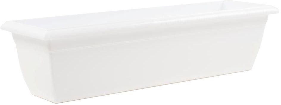 Ящик балконный Santino, цвет: белый, 60 х 15 х 15 см531-301Балконный ящик Santino изготовлен из высококачественного цветного полипропилена. Изделие предназначено для выращивания цветов и рассады, как на балконе, так и в комнатных условиях.Размер ящика: 60 х 15 х 15 см.