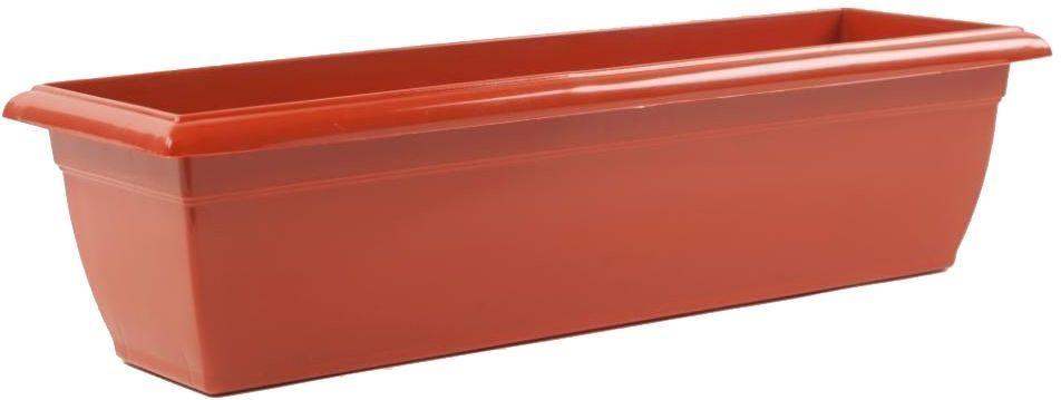 Ящик балконный Santino, цвет: терракотовый, 60 х 15 х 15 см531-301Балконный ящик Santino изготовлен из высококачественного цветного полипропилена. Изделие предназначено для выращивания цветов и рассады, как на балконе, так и в комнатных условиях.Размер ящика: 60 х 15 х 15 см.