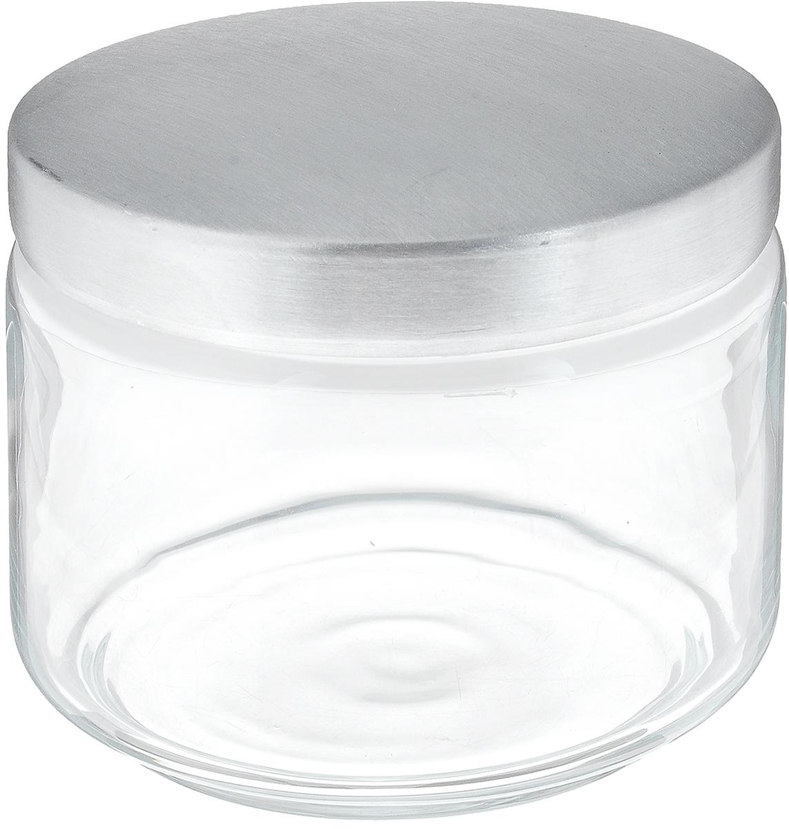 Банка для сыпучих продуктов Luminarc Boxmania, 500 млVT-1520(SR)Банка Luminarc Boxmania изготовлена из высококачественного стекла. Емкость подходит для хранения сыпучих продуктов: круп, специй, сахара, соли. Она снабжена металлической крышкой, которая плотно и герметично закрывается, дольше сохраняя аромат и свежесть содержимого. Банка Luminarc Boxmania станет полезным приобретением и пригодится на любой кухне.Высота банки (без учета крышки): 8 см.Диаметр банки (по верхнему краю): 9,5 см.Объем банки: 500 мл.