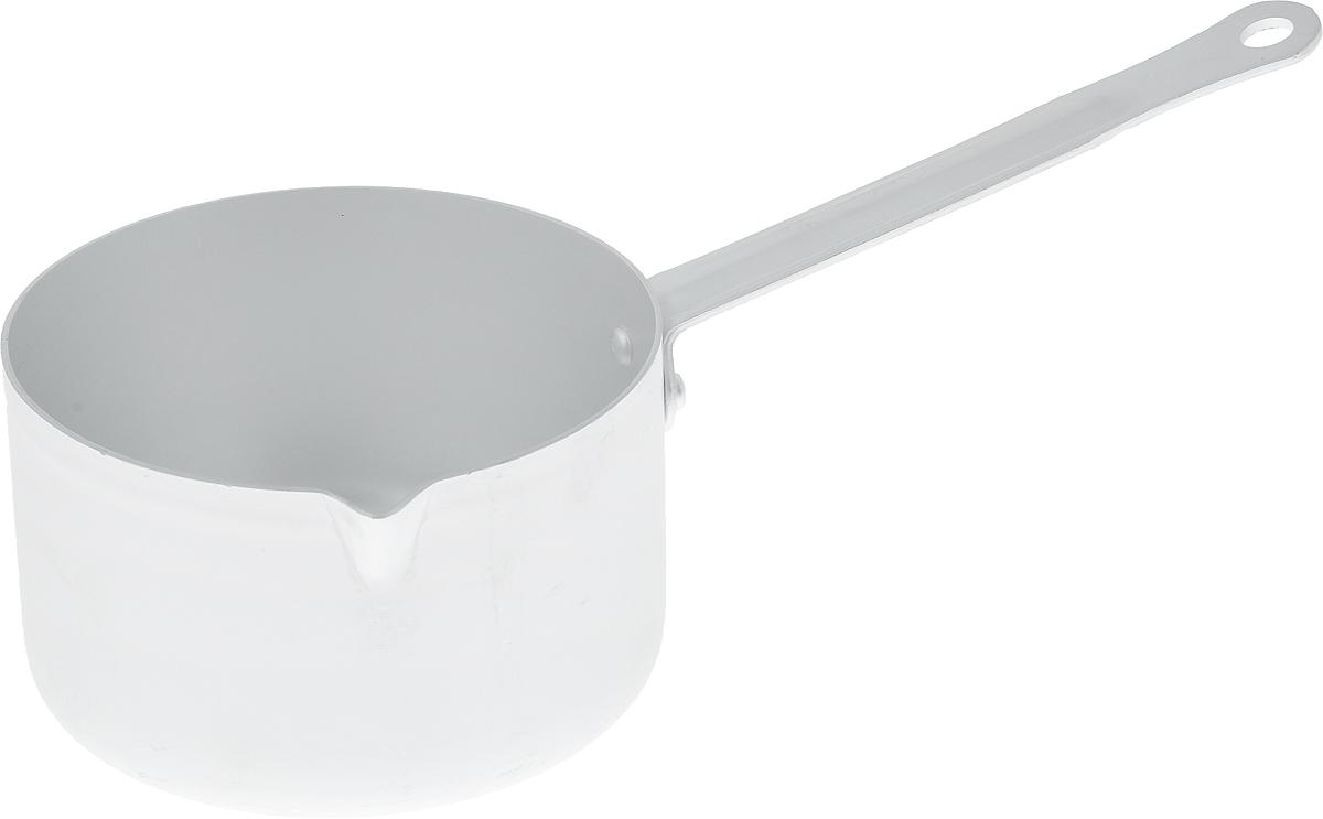 Ковш Kalitva, 750 млЭ8351Ковш Kalitva, выполненный из листового алюминия, позволит вам приготовить вкуснейшие блюда. Благодаря хорошей теплопроводности алюминия, молоко или вода закипают в нем быстрее, чем в эмалированных ковшах. Изделие оснащено удобной ручкой с отверстием для подвешивания.Данный ковш отличается долговечностью и легкостью. Подходит для газовых, электрических и стеклокерамических плит.Высота стенки: 7,5 см. Длина ручки: 14 см. Диаметр ковша (по верхнему краю): 12,5 см.