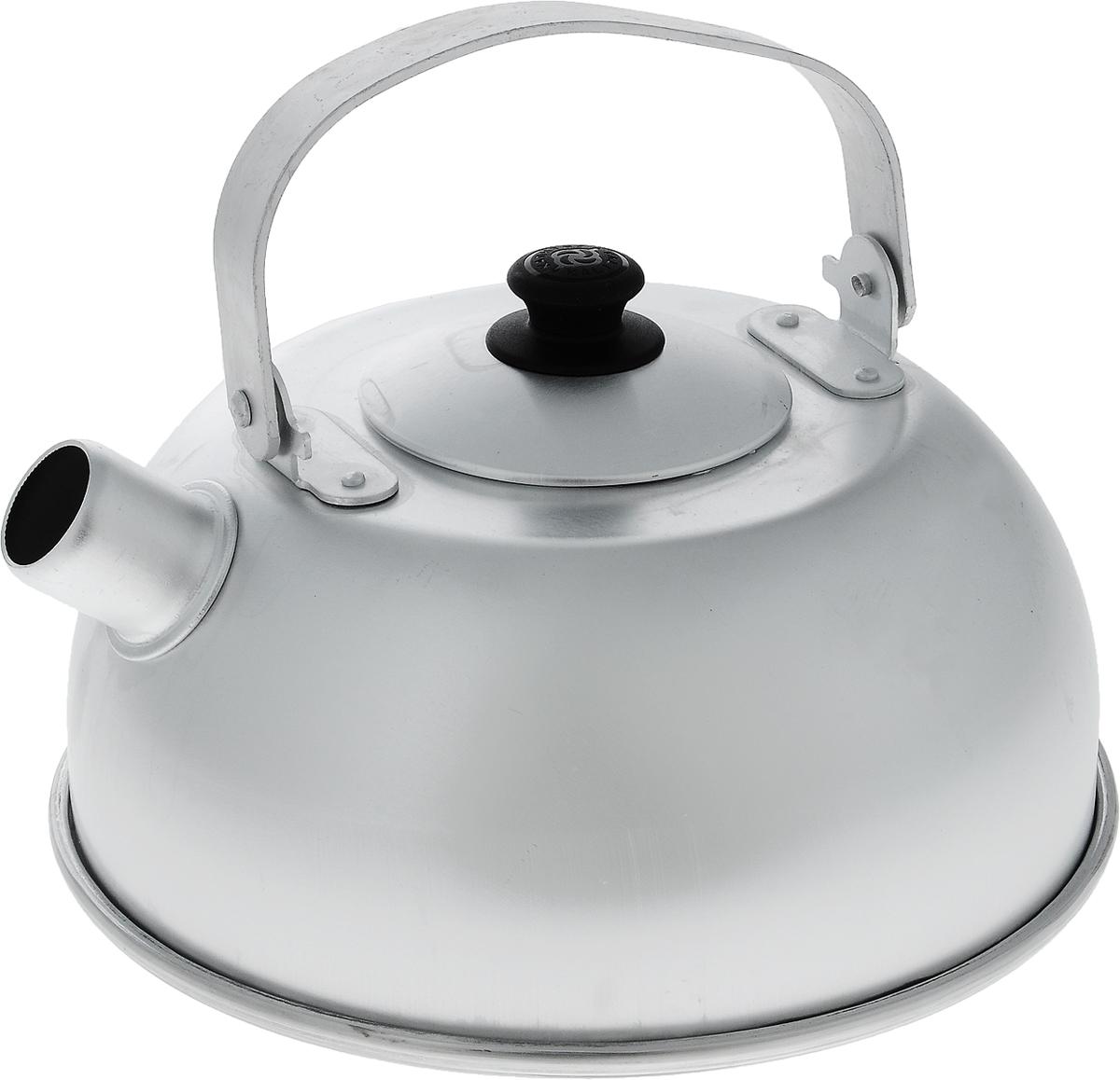 Чайник Kalitva, 5 л115510Чайник Kalitva выполнен из высококачественного литого алюминия. Благодаря хорошей теплопроводности алюминия, вода закипает в нем быстрее, чем в эмалированных чайниках. Изделие оснащено крышкой и удобной ручкой. Поверхность чайника гладкая, что облегчает уход за ним. Эстетичный и функциональный чайник будет оригинальносмотреться в любом интерьере.Подходит для газовых, электрических и стеклокерамических плит.Высота чайника (без учета ручки и крышки): 11 см. Высота чайника (с учетом ручки и крышки): 22 см. Диаметр чайника (по верхнему краю): 10 см.Диаметр основания: 21,5 см.