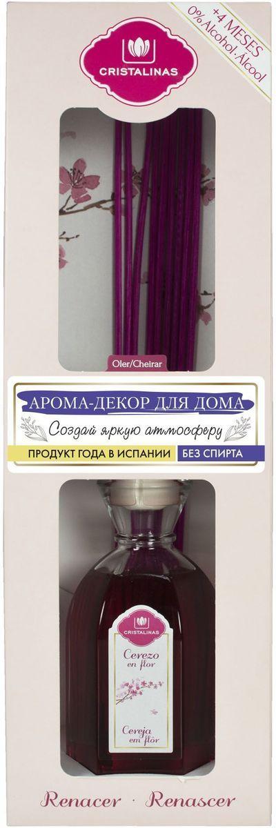 Арома-диффузор Cristalinas Mikado, для жилых помещений, с ароматом цветущей вишни, 180 мл531-301Арома-диффузор Cristalinas Mikado для жилых помещений с ароматом цветущей вишни создаст успокаивающую атмосферу в доме. Аромат будет распространяться и заполнять помещение плавно и равномерно, будто обволакивая его. Арома-диффузор наполнит помещение приятным ароматом на 16 недель и вам всегда будет особенно хотеться возвращаться домой. Способ применения: 1. Снимите крышку.2. Разместите все ротанговые палочки и расправьте в форме веера.3. Подождите пару часов пока палочки пропитаются ароматом.4. Для более интенсивного запаха можно перевернуть палочки.5. Интенсивность запаха может варьироваться в зависимости от количества размещённых палочек.Способ хранения: хранить в недоступном для детей месте. Меры предосторожности: не употреблять внутрь. Не разбавлять с водой или другими маслами. Использовать только специальные сменные блоки. Не вставлять другие палочки, так они не будут поглощать аромат. Избегать попадания в глаза и прямого контакта с кожей. Токсичный для водных организмов с долгосрочными последствиями. При контакте с кожей тщательно промыть ее проточной водой с мылом. При попадании в глаза аккуратно промыть их водой в течение нескольких минут. Состав: дельта-дамаскон, линалоол, земляничный альдегид.