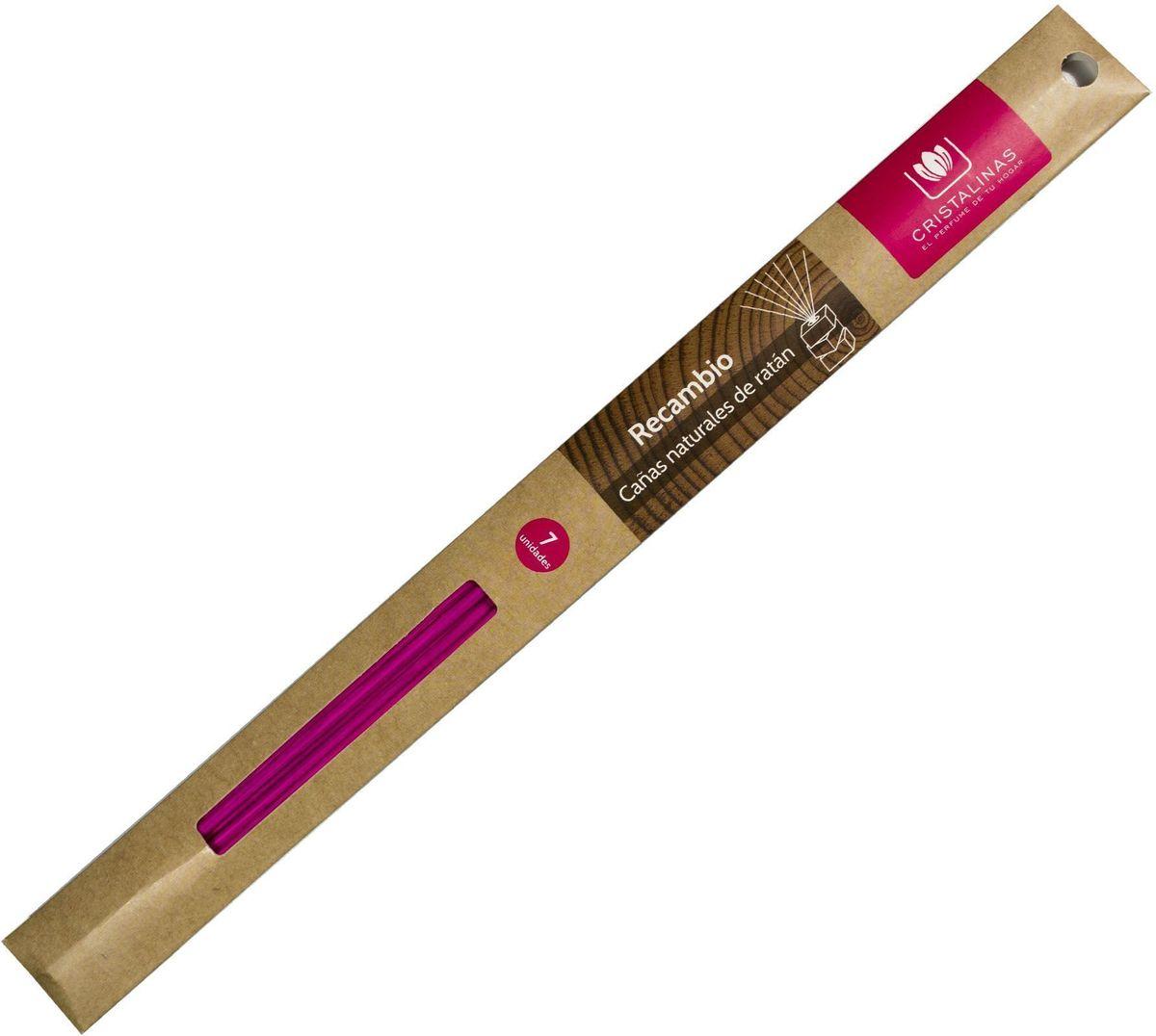 Палочки ротанговые Cristalinas Natural Wood, цвет: светло-розовый, 7 шт106-026Палочки ротанговые Cristalinas Natural Wood- главный атрибут любого арома-диффузора. Благодаря их особой пористой структуре ароматическое масло хорошо впитывается, затем поднимается из флакона вверх, наполняя помещение приятным ароматом. Можно использовать разное количество палочек, регулируя интенсивность аромата. Ротанговые палочки Cristalinas созданы из натурального дерева. Способ применения: поместить необходимое количество ротанговых палочек во флакон. Рекомендуется периодически переворачивать палочки для повышения интенсивности аромата. Состав: материал – ротанг.