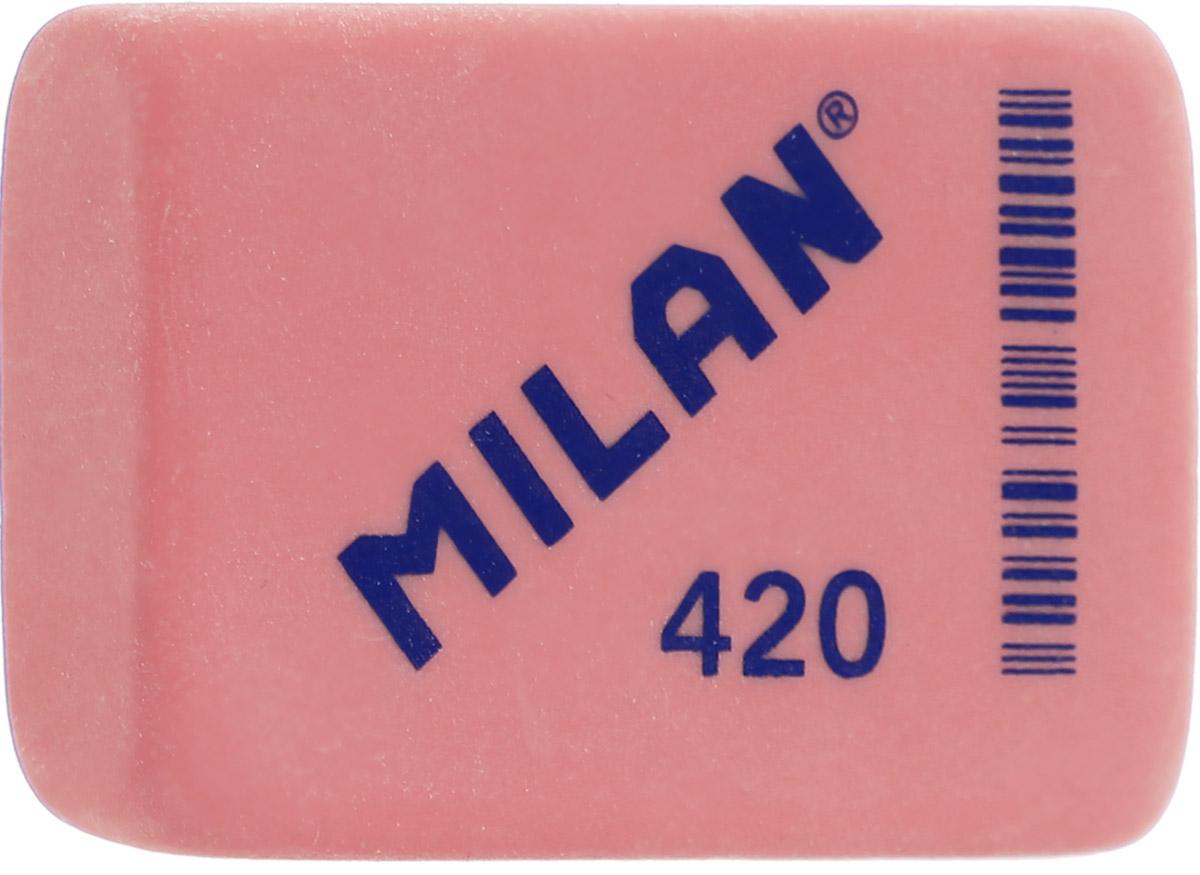 Milan Ластик 420 прямоугольный цвет красный0703415Поликомпонентный ластик Milan традиционной формы имеет высокую абсорбцию и великолепную структуру.