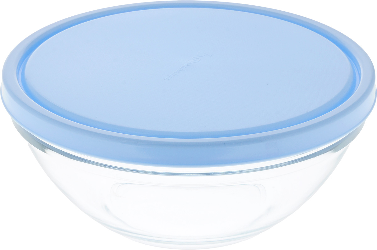 Салатник Pasabahce Chefs, с крышкой, диаметр 23 см53583BD3Салатник Pasabahce Chefs выполнен из прочного натрий-кальций-силикатного стекла. Изделие оснащено пластиковой крышкой. Такой салатник отлично подойдет для сервировки закусок, нарезок, салатов и других блюд, а наличие крышки дает возможность хранить продукты закрытыми в холодильнике. Такой салатник идеально подойдет для сервировки стола и станет отличным подарком к любому празднику.Можно мыть в посудомоечной машине и использовать в микроволновой печи.Диаметр салатника: 23 см.Высота салатника (без учета крышки): 9,5 см.