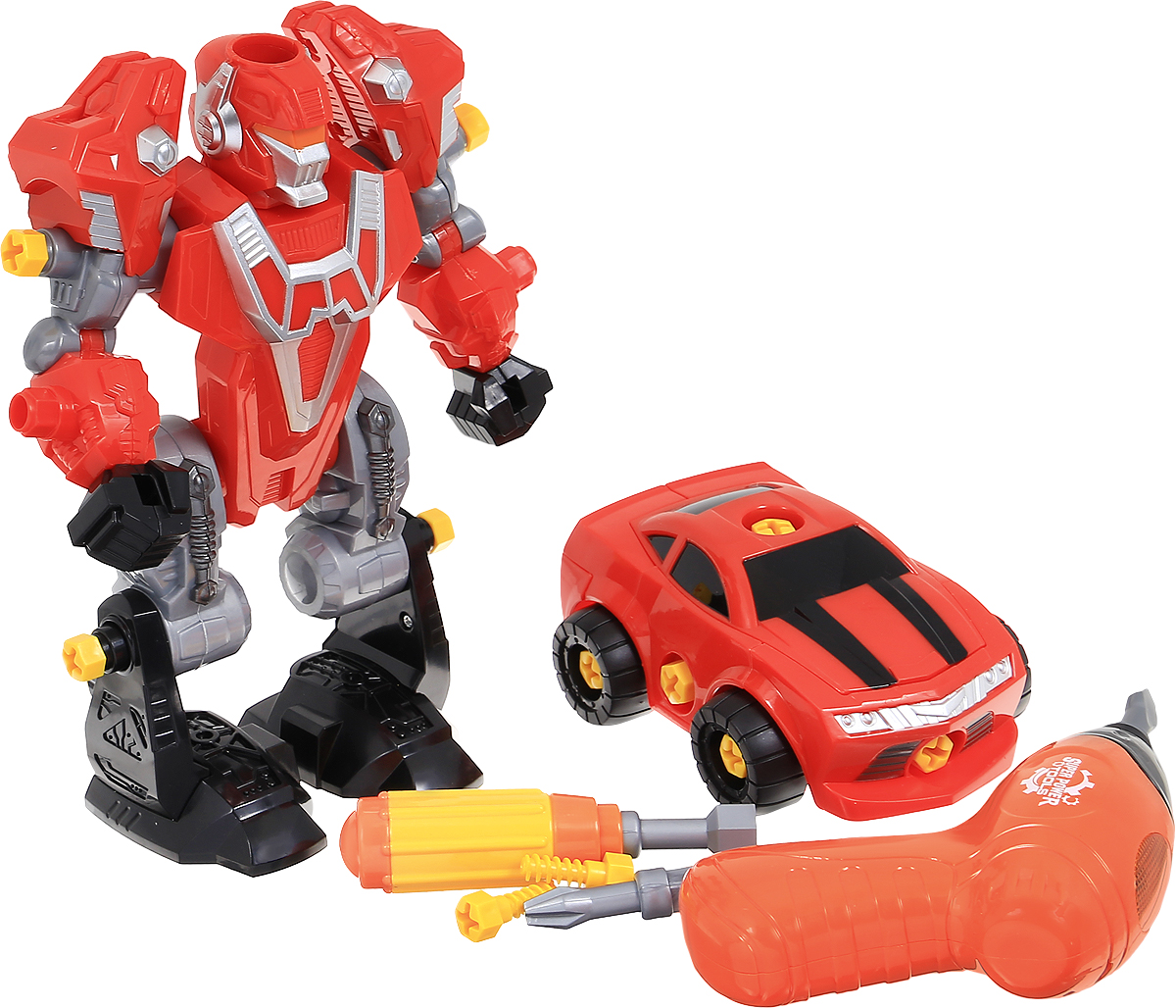 ABtoys Робот-трансформер 3 в 1 цвет красный