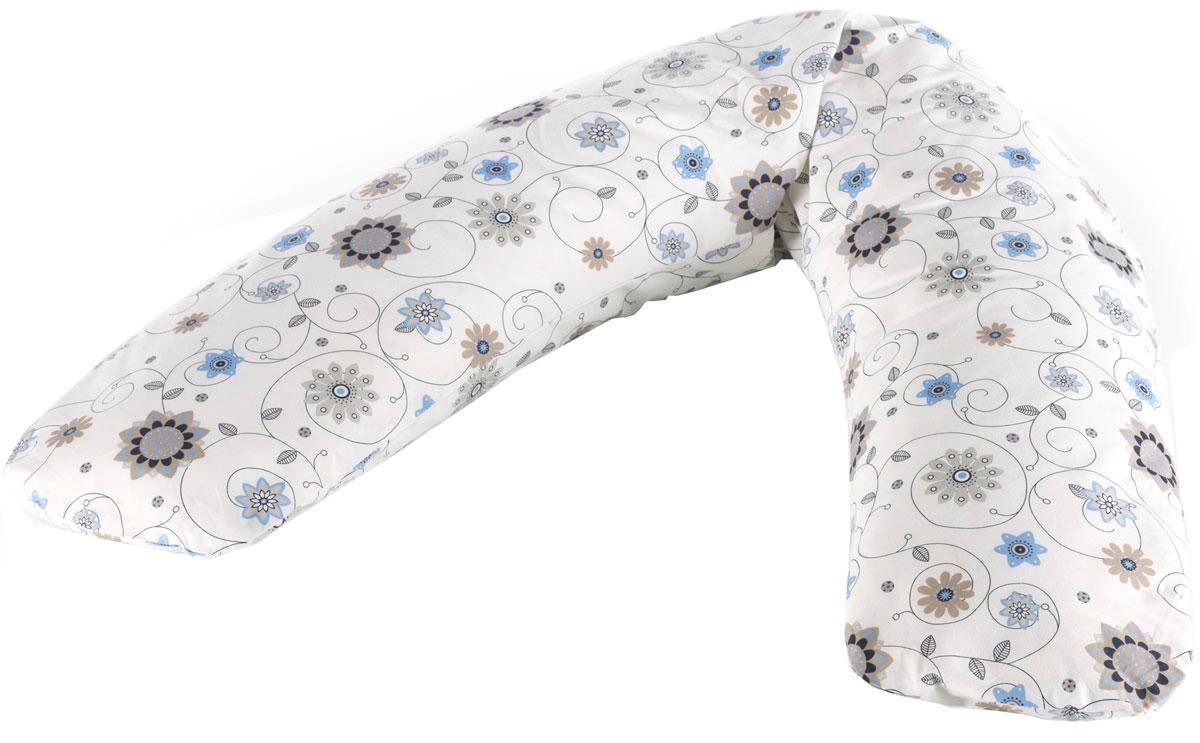 Theraline Чехол для подушки для беременных Цветы 170 см цвет слоновая кость -  Чехлы для подушек беременным