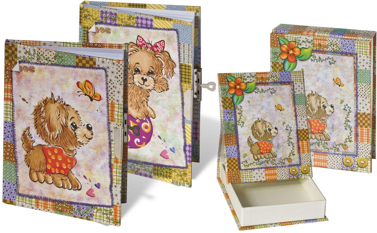 Brauberg Блокнот 60 листов в линейку 12356072523WDУкрашенный блестками детский блокнот Brauberg с изображением милых щенков на обложке, с ароматизированными листами. Очаровательный замочек надежно сохранит все секреты.