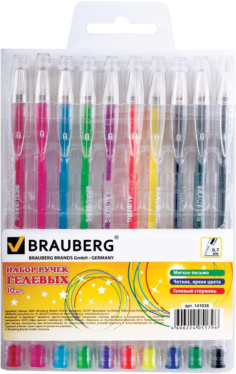 Brauberg Набор гелевых ручек Jet 10 шт0703415Набор гелевых ручек Brauberg Jet состоит из десяти разноцветных ручек. Они отлично подойдут и для школы и для офиса.Ручки с пластиковым упором пишут разными цветами, а их корпус выполнен из качественных материалов. Диаметр шарика каждой ручки 0,7 мм.Удобный набор гелевых ручек Brauberg Jet станет незаменимой канцелярской принадлежностью для вас или для вашего ребенка.