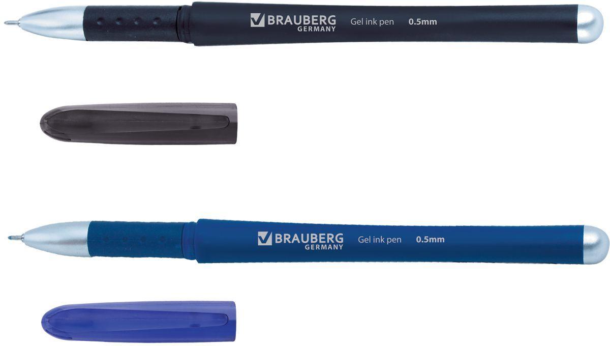 Brauberg Набор гелевых ручек Impulse 2 шт72523WDНабор гелевых ручек Brauberg Impulse состоит из двух разноцветных ручек. Они отлично подойдут и для школы и для офиса.Ручки с резиновым упором пишут синим и черным цветом, а их корпус выполнен из качественных материалов. Также ручки оснащены сменным стержнем с игольчатым наконечником. Диаметр шарика каждой ручки 0,5 мм.Удобный набор гелевых ручек Brauberg Impulse станет незаменимой канцелярской принадлежностью для вас или для вашего ребенка.