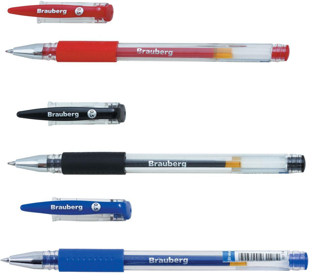 Brauberg Набор гелевых ручек Number One 3 шт72523WDНабор Brauberg Number One включает в себя 3 гелевые ручки с колпачком и резиновым упором для удобства письма. Цвет деталей соответствует цвету чернил.