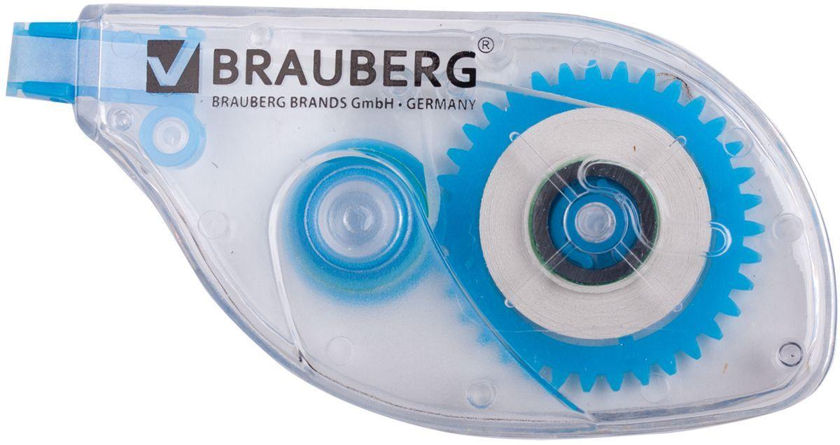 Brauberg Корректирующая лента 5 мм х 6 м221685Корректирующая лента Brauberg обеспечивает моментальное исправление ошибок, отличное письмо по исправленному и не требует времени для высыхания.Подходит для всех типов бумаг. Размер 5 мм на 6 м.