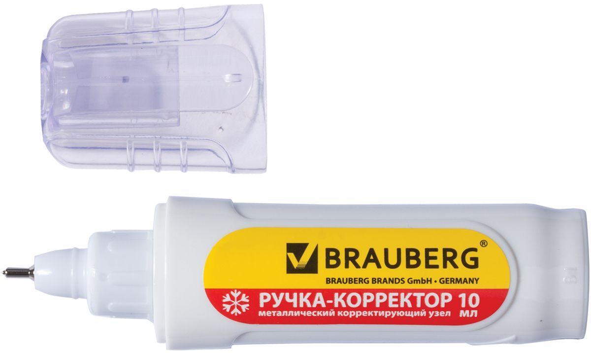 Brauberg Ручка-корректор 10 мл222059Ручка-корректор Brauberg предназначена для наиболее аккуратного и точного исправления печатного и рукописного текста.