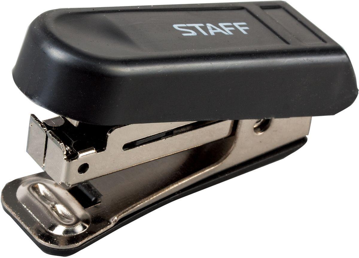 Staff Степлер Эконом цвет черный №10 224624FS-00897Компактный степлер Staff Эконом с металлическим механизмом обеспечивает качественное скрепление документов. Максимальная величина скрепления - 7 листов. В случае надобности раскрепления документов имеется встроенный антистеплер.