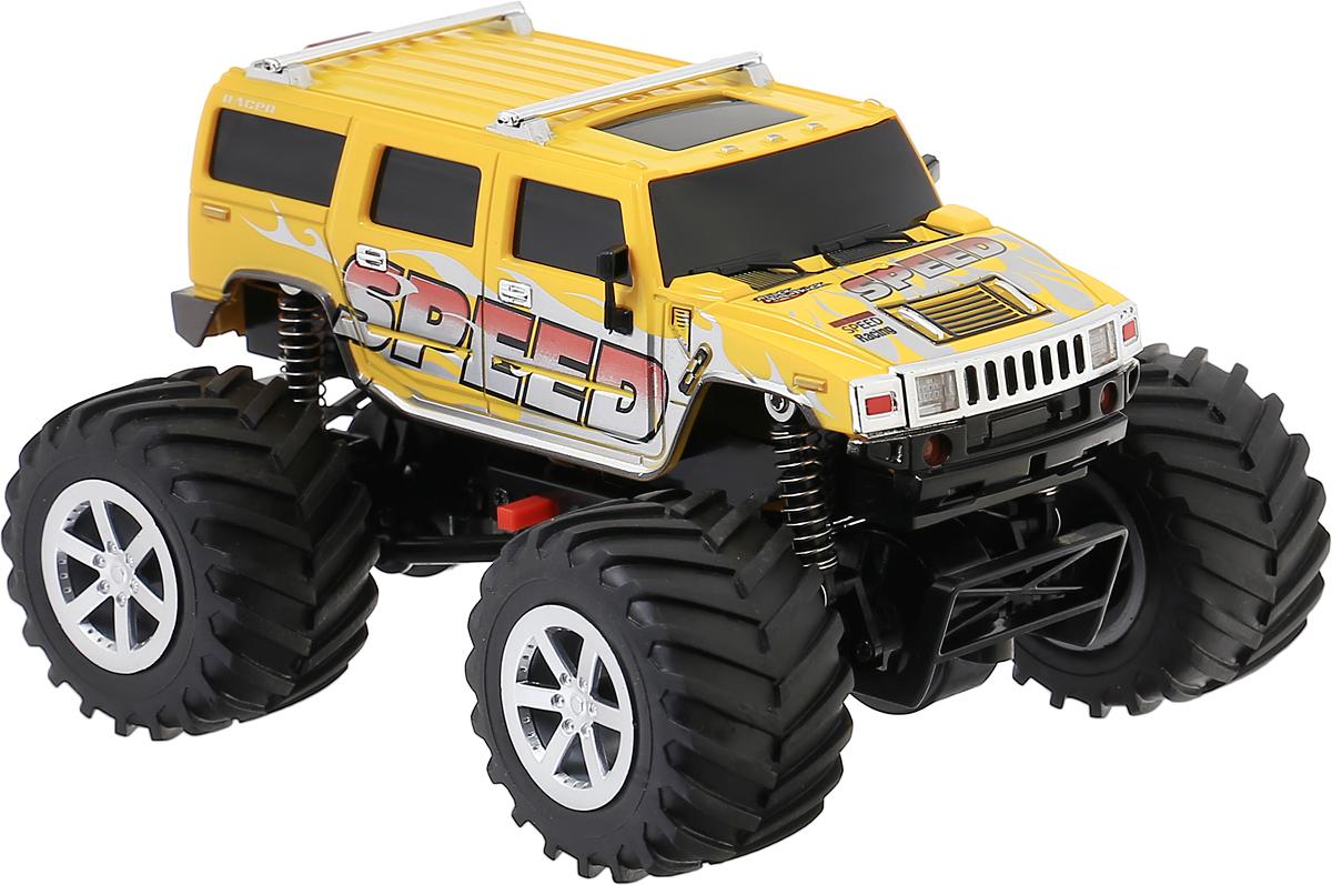 """Радиоуправляемая автомодель Pilotage """"Внедорожник Tiny Monster RTR"""" привлечет внимание как ребенка, так и взрослого и понравится любому, кто увлекается автомобилями. Реалистичная уменьшенная копия """"Внедорожник Tiny Monster RTR"""" выполнена в точной детализации с настоящим автомобилем в масштабе 1/24. Управление машинкой происходит с помощью пульта. Машинка двигается вперед и назад, поворачивает направо и налево. При движении вперед внедорожник освещает дорогу светодиодными фарами. Модель оснащена электромотором, приводящим в движение все 4 колеса, что позволяет преодолевать значительные для этого размера модели препятствия.Колеса игрушки прорезинены и обеспечивают плавный ход. Скорость машинки может достигать до 20 км/ч. Машина подойдет для запуска и дома, и на открытом пространстве. Радиоуправляемые игрушки способствуют развитию координации движений, моторики и ловкости. Ваш ребенок часами будет играть с моделью, придумывая различные истории и устраивая соревнования. Порадуйте его таким замечательным подарком!Необходимо докупить 6 батареек напряжением 1,5V типа АА (не входят в комплект)."""