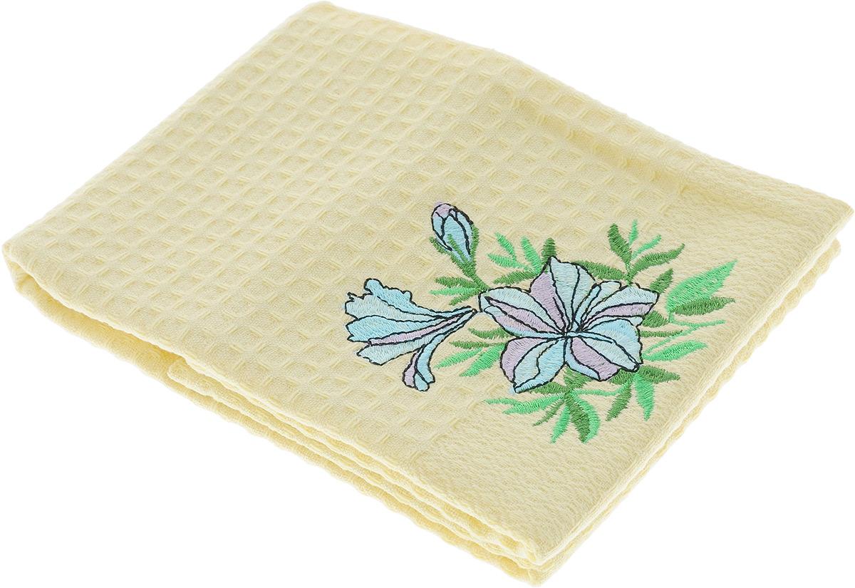 Полотенце кухонное Soavita Цветок, 40 х 60 см. 48805VT-1520(SR)Кухонное полотенце Soavita Цветок выполнено из 100% хлопка и декорировано вышивкой. Оно отлично впитывает влагу, быстро сохнет, сохраняет яркость цвета и не теряет форму даже после многократных стирок. Изделие предназначено для использования на кухне и в столовой. Такое полотенце станет отличным вариантом для практичной и современной хозяйки.