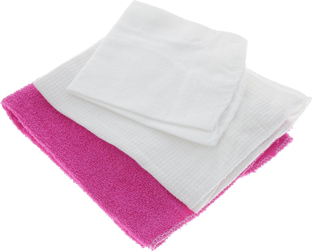 Набор салфеток для мойки и полировки автомобиля Главдор, цвет: розовый, белый, 3 шт06008A7602Набор салфеток для мойки и полировки автомобиля Главдор состоит из 3 различных по фактуре салфеток, выполненных из 100% хлопка. Вафельная салфетка подходит для протирки насухо любых поверхностей автомобиля после мойки и других работ, а также для бытового применения. Махровая салфетка подходит для удаления пыли, нанесения очистителей и полиролей, а также для располировки автомобильной косметики. Фланелевая салфетка подходит для ухода за внешними и внутренними частями автомобиля - удаление излишней влаги, пыли и загрязнений. Размер салфеток: 37 х 37 см; 25 х 29 см; 39 х 39 см.