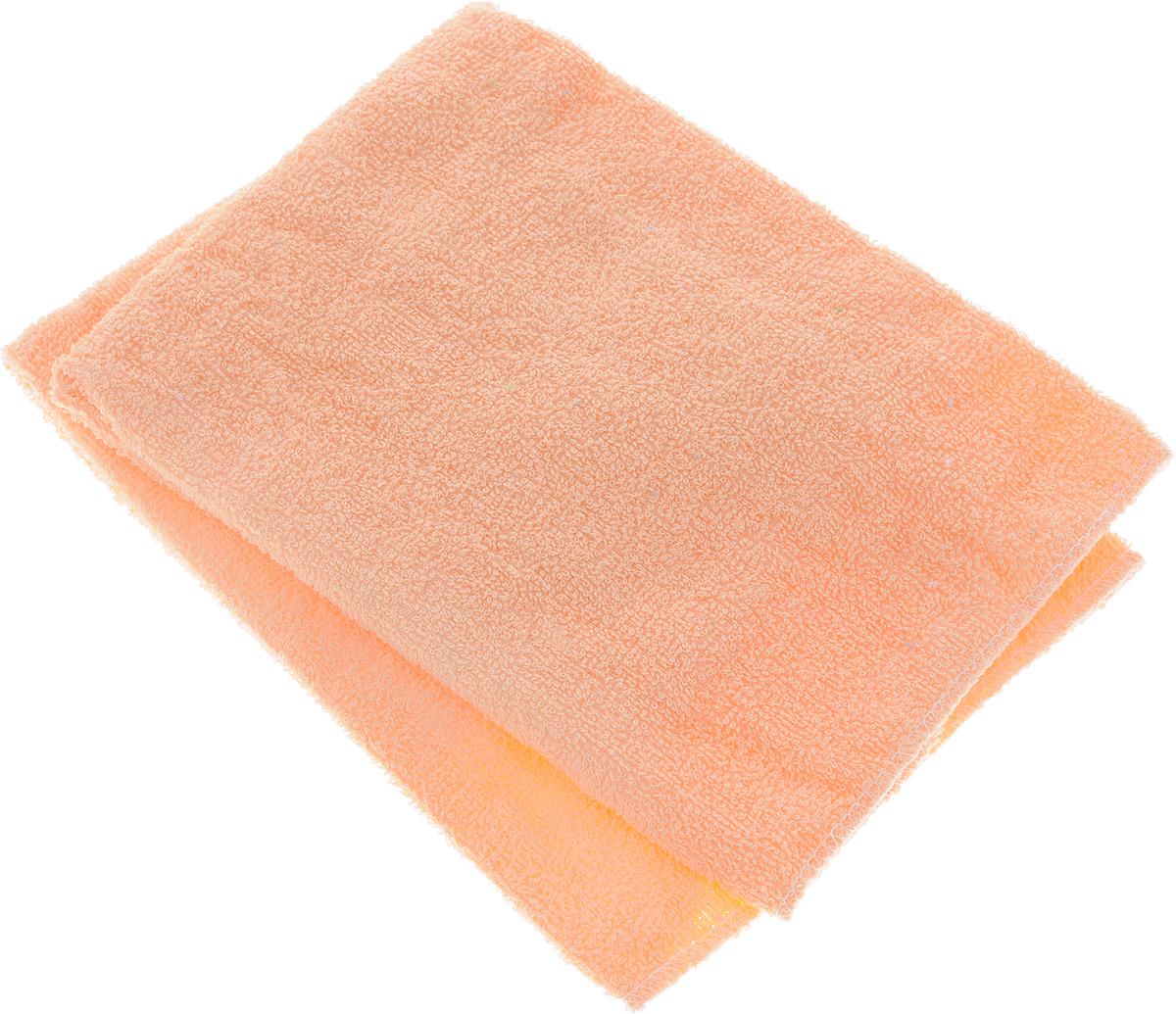Салфетка автомобильная Главдор, для мойки и полировки, цвет: персиковый, 39 х см, 2 шт
