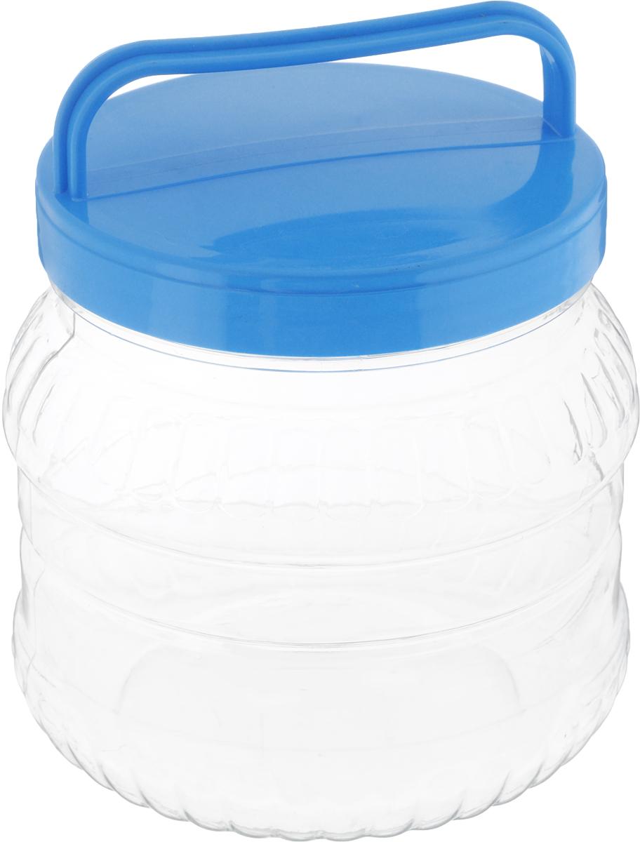 Бидон Альтернатива, цвет: прозрачный, голубой, 1 лАксион Т-33Бидон Альтернатива Бочонок, выполненная из высококачественного пластика, предназначена для хранения сыпучих продуктов или жидкостей. Крышка оснащена ручкой для удобной переноски.Высота бидона (без учета крышки): 12 см.Диаметр по верхнему краю: 10,5 см.