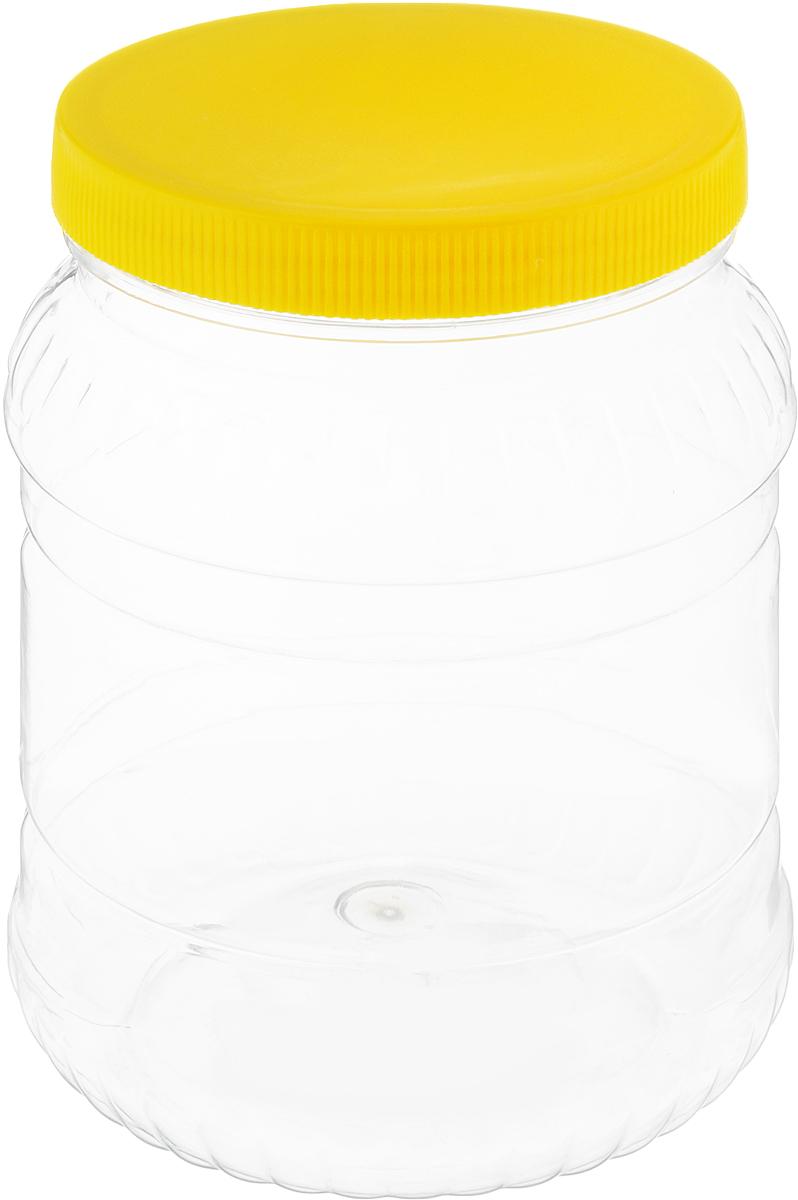 Банка для сыпучих продуктов Альтернатива, цвет: желтый, прозрачный, 1,5 лVT-1520(SR)Банка для сыпучих продуктов Альтернатива, изготовленная из высококачественной пластмассы, станет незаменимым помощником на любой кухне. В ней будет удобно хранить сыпучие продукты, такие, как чай, кофе, соль, сахар, крупы, макароны и многое другое. Емкость плотно закрывается крышкой. Яркий дизайн банки позволит украсить любую кухню, внеся разнообразие как в строгий классический стиль, так и в современный кухонный интерьер.Диаметр банки (по верхнему краю): 10,5 см.Высота банки (с учетом крышки): 16,5 см.