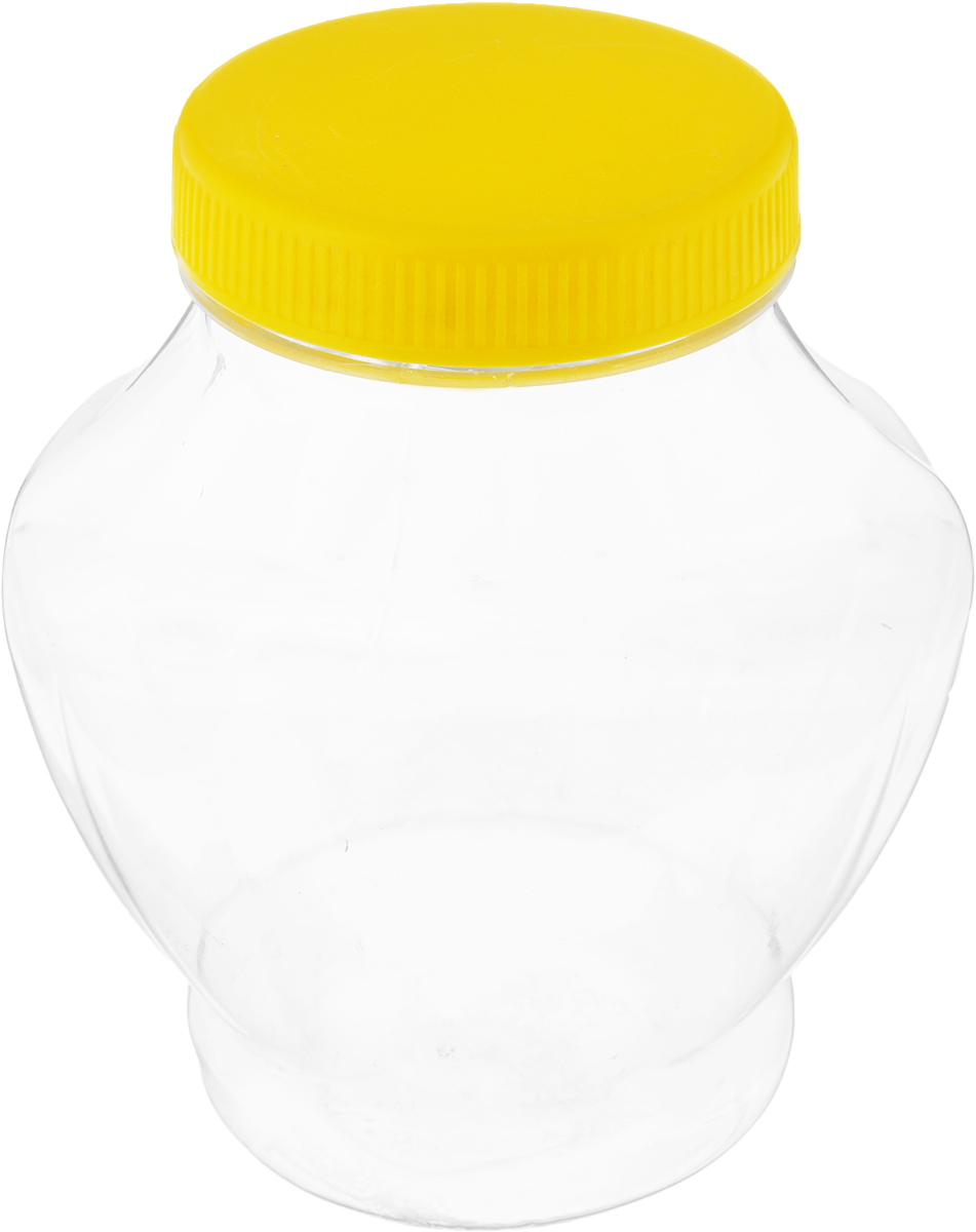 Банка для меда Альтернатива, цвет: прозрачный, желтый, 300 млVT-1520(SR)Банка для меда Альтернатива, изготовленная из высококачественного пластика, оснащенаплотно закрывающейся крышкой.Банка для меда Альтернатива идеально подойдет для сервировки стола и станетотличным подарком к любому празднику. Диаметр банки (по верхнему краю): 6 см. Высота (без учета крышки): 11 см.