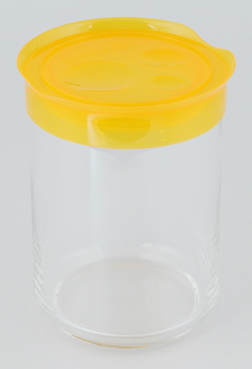 Банка для сыпучих продуктов Luminarc Storing Box, с крышкой, цвет: оранжевый, 1 лVT-1520(SR)Банка Luminarc Storing Box, выполненная из высококачественного стекла, станет незаменимым помощником на кухне. В ней будет удобно хранить разнообразные сыпучие продукты, такие как кофе, сахар, соль или специи. Прозрачная банка позволит следить, что и в каком количестве находится внутри. Банка надежно закрывается пластиковой крышкой, которая снабжена резиновым уплотнителем для лучшей фиксации. Такая банка не только сэкономит место на вашей кухне, но и украсит интерьер.Объем: 1 л.Диаметр банки (по верхнему краю): 9 см.Высота банки (без учета крышки): 14,5 см.