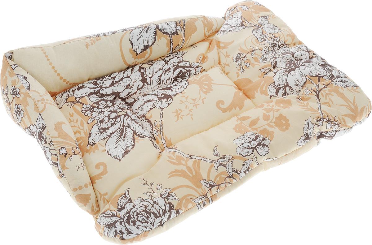Лежак для животных Elite Valley Софа, цвет: бежевый, коричневый, белый, 50 х 38 х 12 см. Л-5/20120710Лежак для животных Elite Valley Софа изготовлен из высококачественной бязи, наполнитель - холлофайбер. Он станет излюбленным местом вашего питомца, подарит ему спокойный и комфортный сон, а также убережет вашу мебель от многочисленной шерсти. На таком лежаке вашему любимцу будет мягко и тепло.