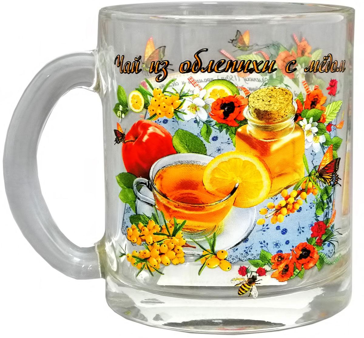 Кружка чайная Квестор Чай из облепихи с медом, 320 мл115510Кружка чайная Квестор Чай из облепихи с медом, 320 мл