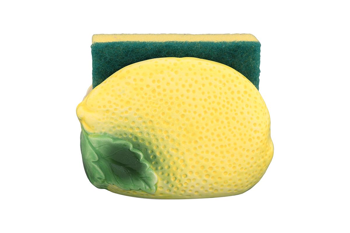 Подставка для губки Elan Gallery Лимон, с губкой, 11 х 6 х 8 смВетерок 2ГФЯркий и полезный аксессуар для кухни. Губка в комплекте.