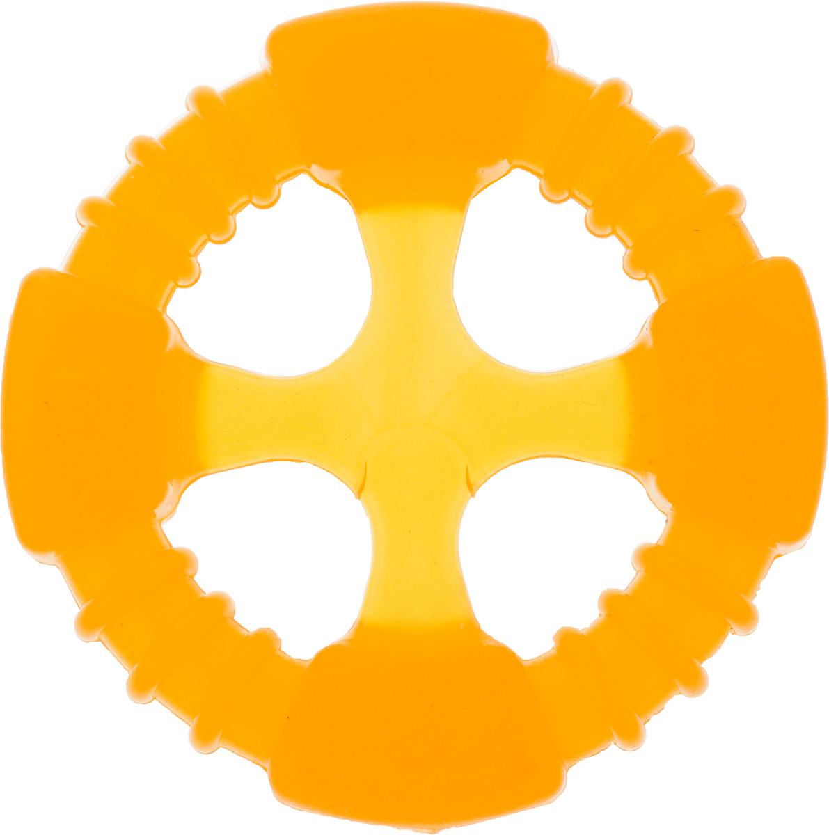 Игрушка для собак Doglike Кольцо Космос, 10 х 10 х 2 см411Игрушка Doglike Кольцо Космос служит для массажа десен и очистки зубов от налета и камня, а также снимает нервное напряжение. Игрушка выполнена из резины. Она прочная и может выдержать огромное количество часов игры. Это идеальная замена косточке.Если ваш пес портит мебель, излишне агрессивен, непослушен или страдает излишним весом то, скорее всего, корень всех бед кроется в недостаточной физической и эмоциональной нагрузке. Порадуйте своего питомца прекрасным и качественным подарком.
