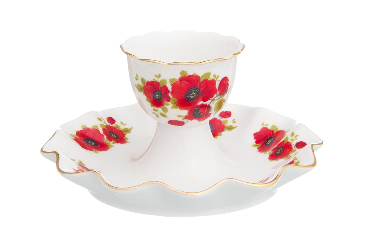 Подставка под яйцо Elan Gallery Маки, 11,5 х 11,5 х 6 см115510Подставка под яйцо Elan Gallery Маки, изготовленная из керамики, декорирована изображением цветов.Такая подставка красиво смотрится на столе и обязательно придется по вкусу любителям разных интерьерных мелочей. Объем подставки: 25 мл. Размер подставки: 11,5 х 11,5 х 6 см.