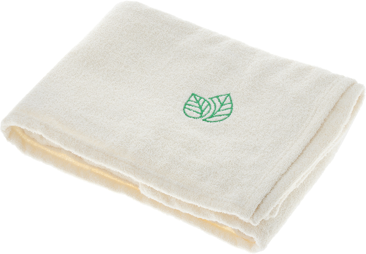 Простыня для бани и сауны Доктор Баня, с вышивкой, 150 х 100 см41194Махровая простыня для бани и сауны Доктор Баня изготовлена из натурального хлопка. Изделие дополнено оригинальной вышивкой в виде двух листочков. В парилке можно лежать на ней, после душа вытираться, а во время отдыха использовать как удобную накидку. Такая простыня идеально подойдет каждому любителю бани и сауны.Размер изделия: 150 х 100 см.