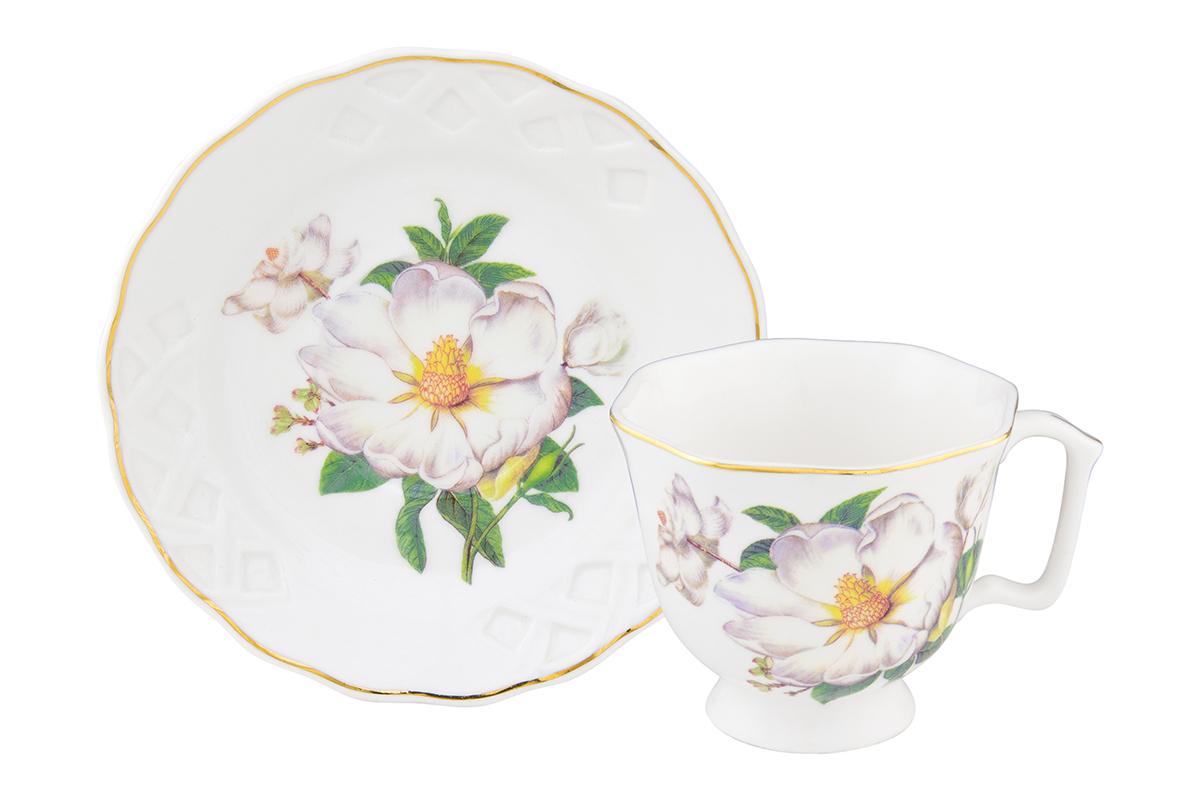 Кофейная пара Elan Gallery Белый шиповник, 2 предмета, 100 млVT-1520(SR)Кофейный набор на 1 персону понравится любителям кофе. В комплекте 1 чашка объемом 100 мл, 1 блюдце. Соберите всю коллекцию предметов сервировки Белый шиповник и Ваши гости будут в восторге! Изделие имеет подарочную упаковку, поэтому станет желанным подарком для Ваших близких!