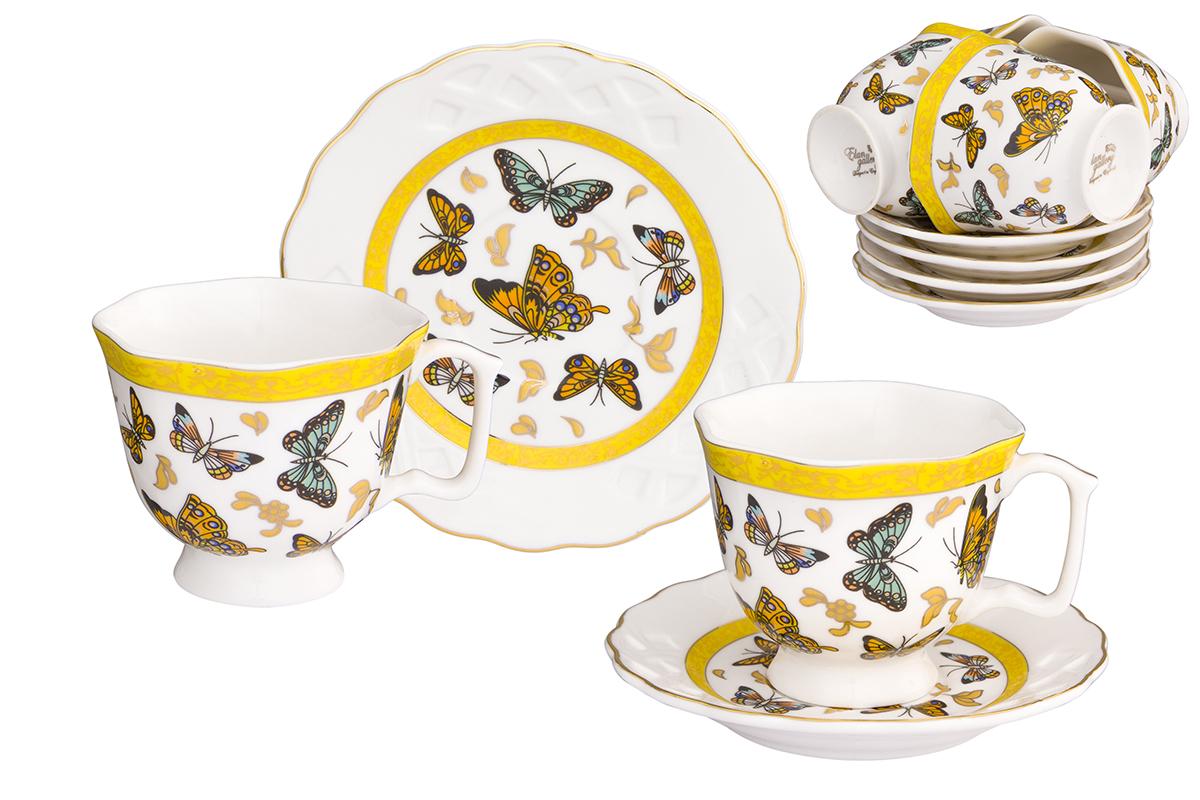 Кофейный набор Elan Gallery Бабочки, 12 предметов181005Кофейный сервиз Elan Gallery Бабочки на 6 персон.Набор включает 6 чашек объемом 130 мл, 6 блюдец, и станет достойным подарком для любителей кофе.Соберите всю коллекцию предметов сервировки Бабочки и Ваши гости будут в восторге!