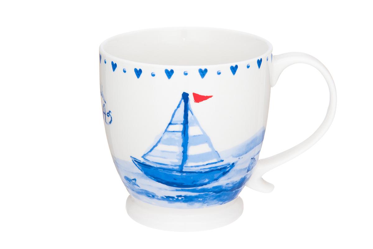 Кружка на ножке Elan Gallery Морское путешествие, 450 мл54 009312Кружка с удобной ручкой. Подходят для любых горячих и холодных напитков, чая, кофе, какао. Изделие имеет подарочную упаковку, поэтому станет желанным подарком для Ваших близких! Объем кружки: 450 мл.