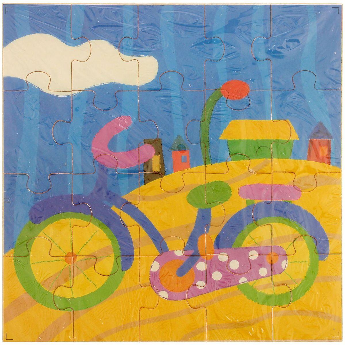 Лесная мастерская Пазл для малышей Велосипед литвинчик к развивающие игрушки для малышей мамочкина мастерская