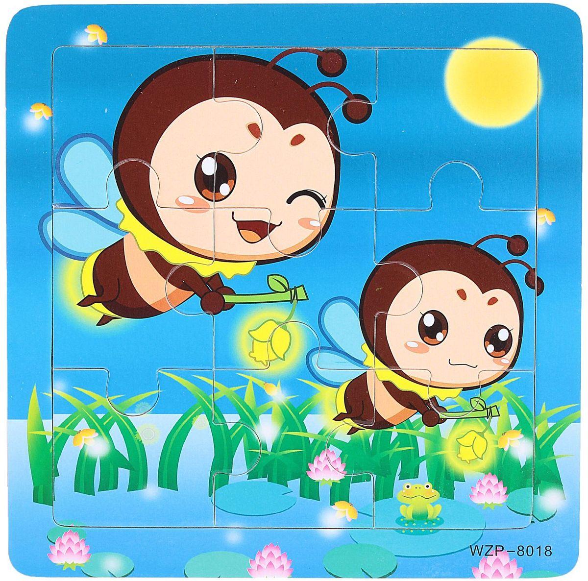 Лесная мастерская Пазл для малышей Пчелки литвинчик к развивающие игрушки для малышей мамочкина мастерская