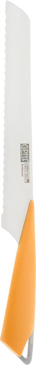 Нож для хлеба Gipfel Allos, длина лезвия 20 см54 009312Нож Gipfel Allos предназначен для хлеба и выполнен из высокоуглеродистой легированной нержавеющей стали (с повышенным содержанием углерода). Ножи из высокоуглеродистой нержавеющей стали относятся к ножам более высокого класса. Эти ножи сочетают в себе все самые лучшие свойства углеродистой и нержавеющей стали. Высокое содержание углерода способствует долгому сохранению заточки, а нержавеющая сталь обеспечивает устойчивость к коррозии и пятнообразованию. Ножи из высокоуглеродистой стали имеют в составе сплава дополнительные элементы, например, молибден, ванадий. Их наличие способствует увеличению твердости, времени сохранения заточки и режущей способности. Пластиковая ручка способствует комфортному использованию ножа.Длина лезвия ножа: 20 см.Общая длина ножа: 32 см.