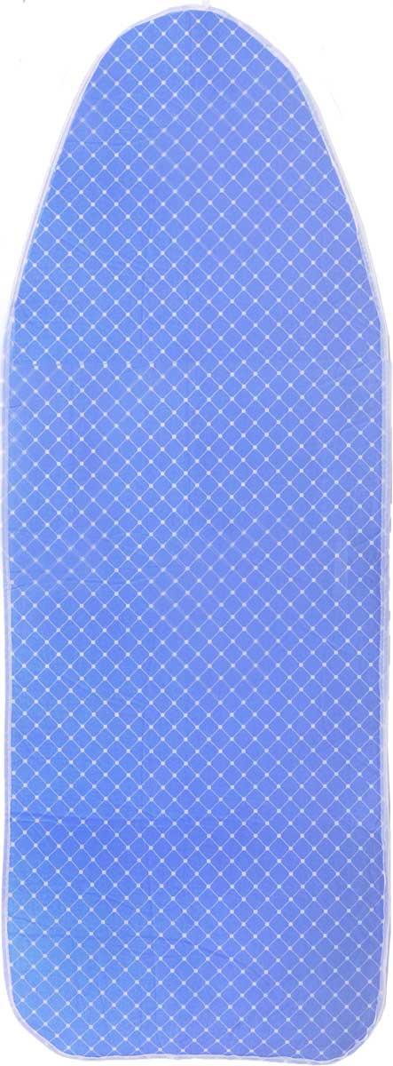 Чехол для гладильной доски Paterra, антипригарный, с поролоном, цвет: белый, голубой, 126 х 46 смGC013/00Антипригарный чехол для гладильной доски Paterra необходим для обеспечения идеального результата в процессе глажения вещей. Он имеет хлопковую основу с особой антипригарной пропиткой из силикона, которая исключает пригорание одежды к чехлу в процессе глажения. Силиконовая пропитка обеспечивает эффект двустороннего глажения: чехол, нагреваясь, отдает тепло вещам. Натуральный хлопок в составе обеспечивает максимальную скорость скольжения утюга и 100% паропроницаемость. Хлопковый чехол имеет подкладку из поролона (мягкого пенополиуретана) оптимальной толщины (4 мм), которая не истончается со временем. Затяжной шнур определяет удобную и надежную фиксацию чехла на доске. Кроме того, наличие шнура делает чехол пригодным для гладильной доски любой формы и меньшего размера. Край хлопкового чехла обработан особой лентой, предотвращающей распускание ткани. Устойчивый рисунок сохраняется длительное время, даже под воздействием высоких температур.Размер чехла: 126 х 46 см.Максимальный размер доски: 125 x 38 см.Толщина подкладки: 4 мм.