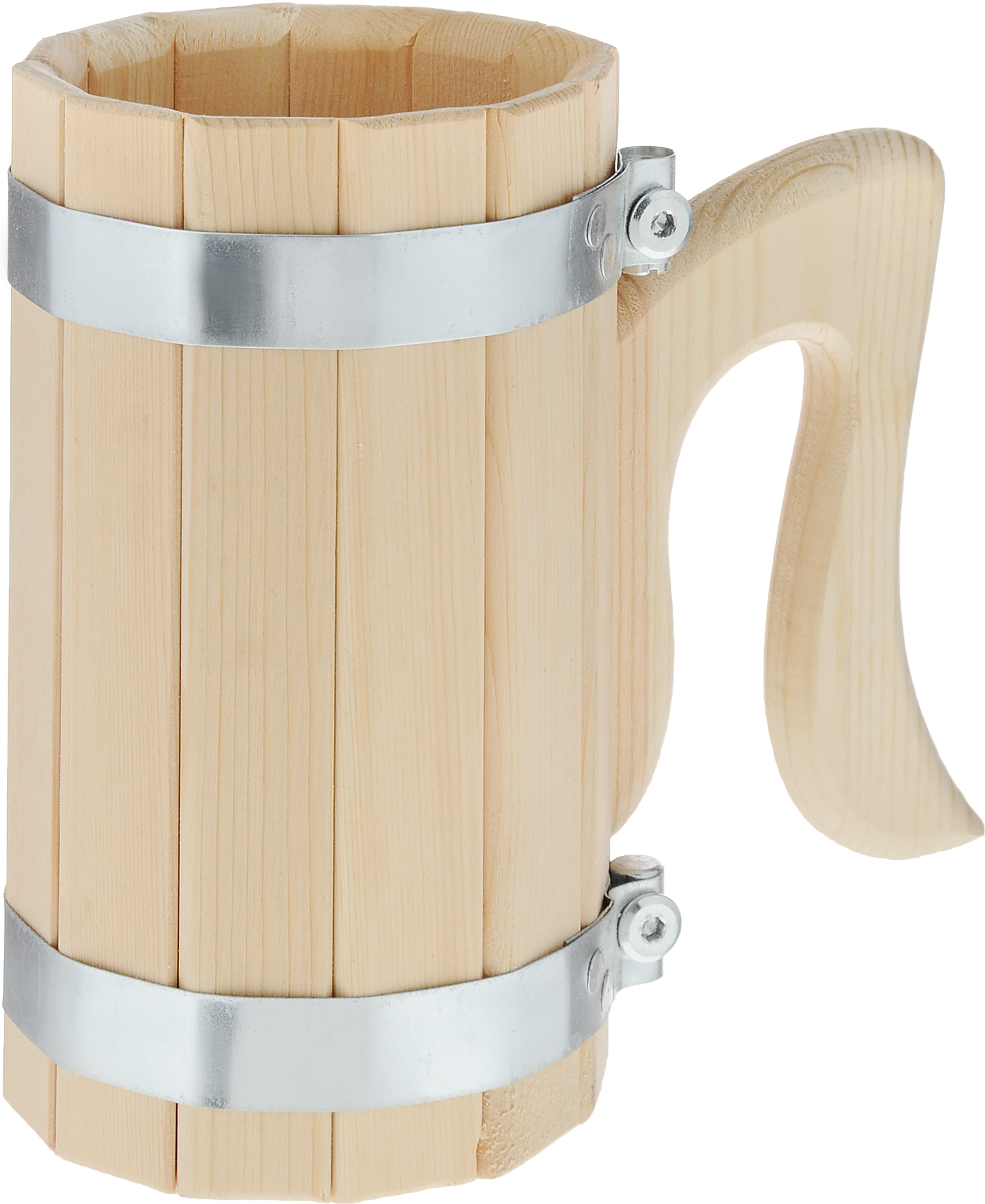 Кружка для бани и сауны Доктор Баня, 1 л787502Кружка Доктор Баня выполнена из натурального кедра с двумя металлическими обручами и оснащена резной ручкой. Она просто незаменима для подачи напитков, приготовления отваров из трав и ароматических масел, также подходит для декора или в качестве сувенира. Объем кружки: 1 л.Диаметр по верхнему краю: 10,5 см.Высота стенки: 19 см.Длина ручки: 14,5 см.